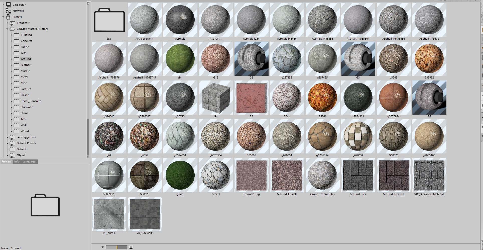 8 3 GB Vrayforc4d Material Library - Lib4d File - UPDATED